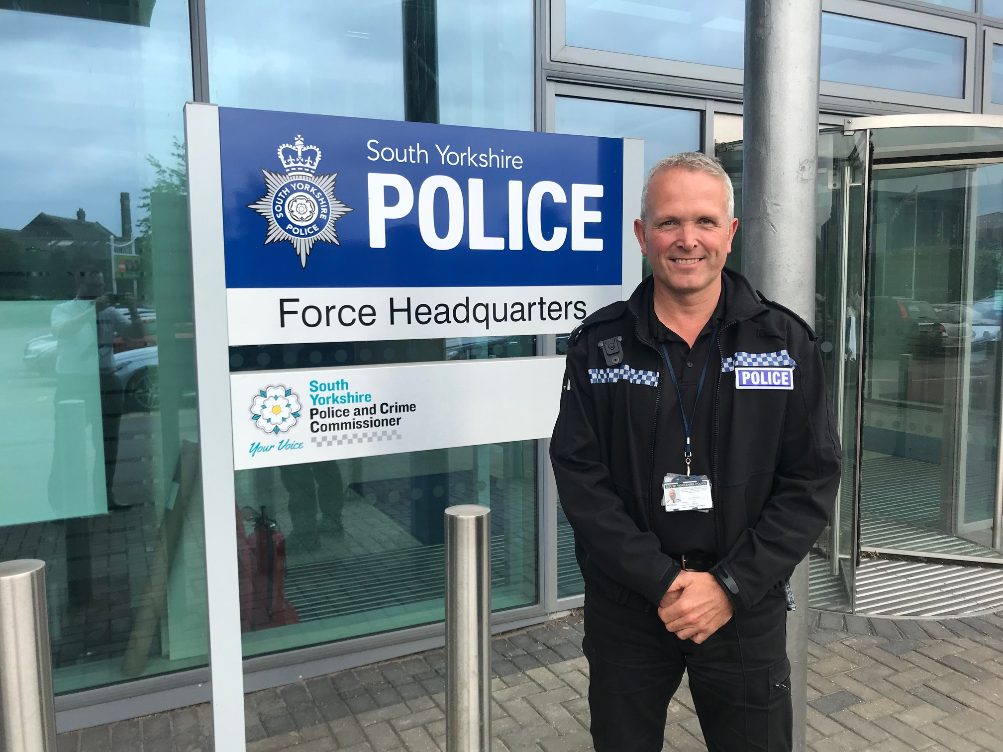 Sergeant Andy Whittaker outside the force's HQ at Carbrook