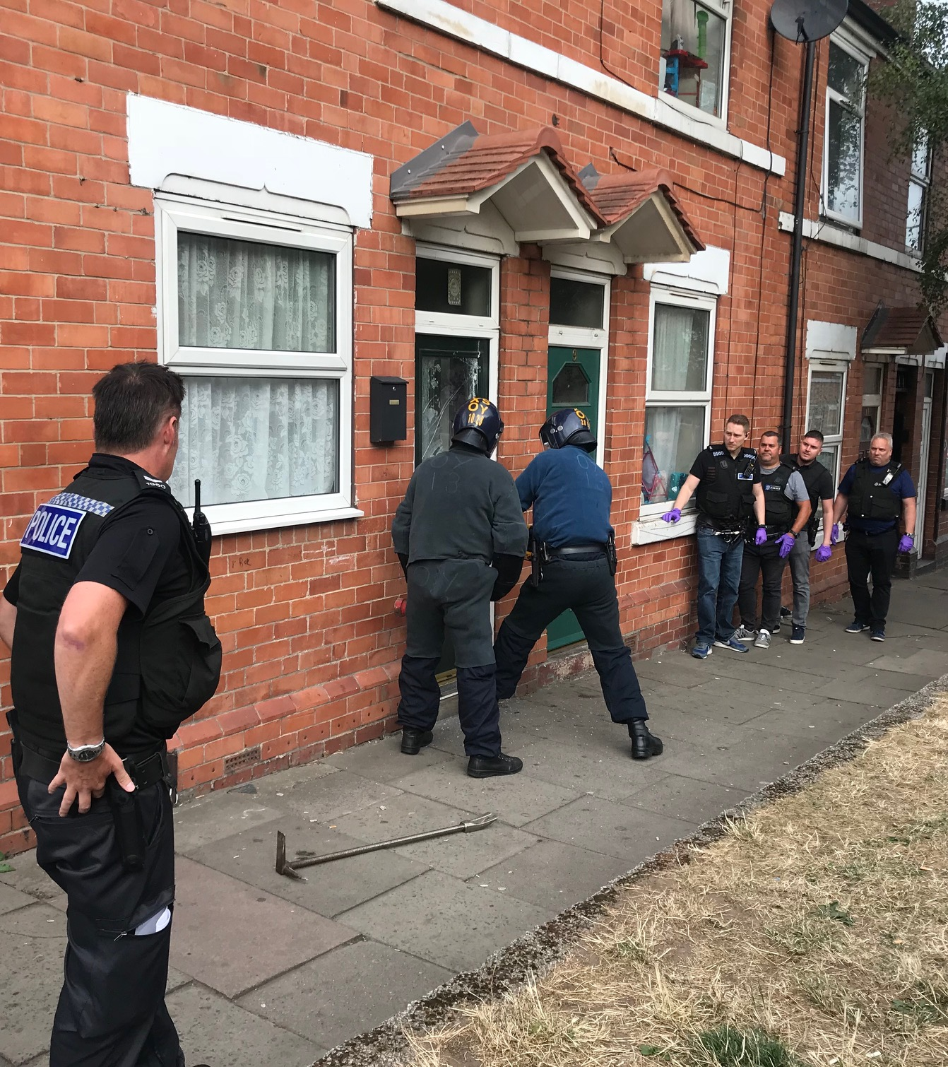 Police raid a house in Eastwood during one of eight warrants across Rotherham