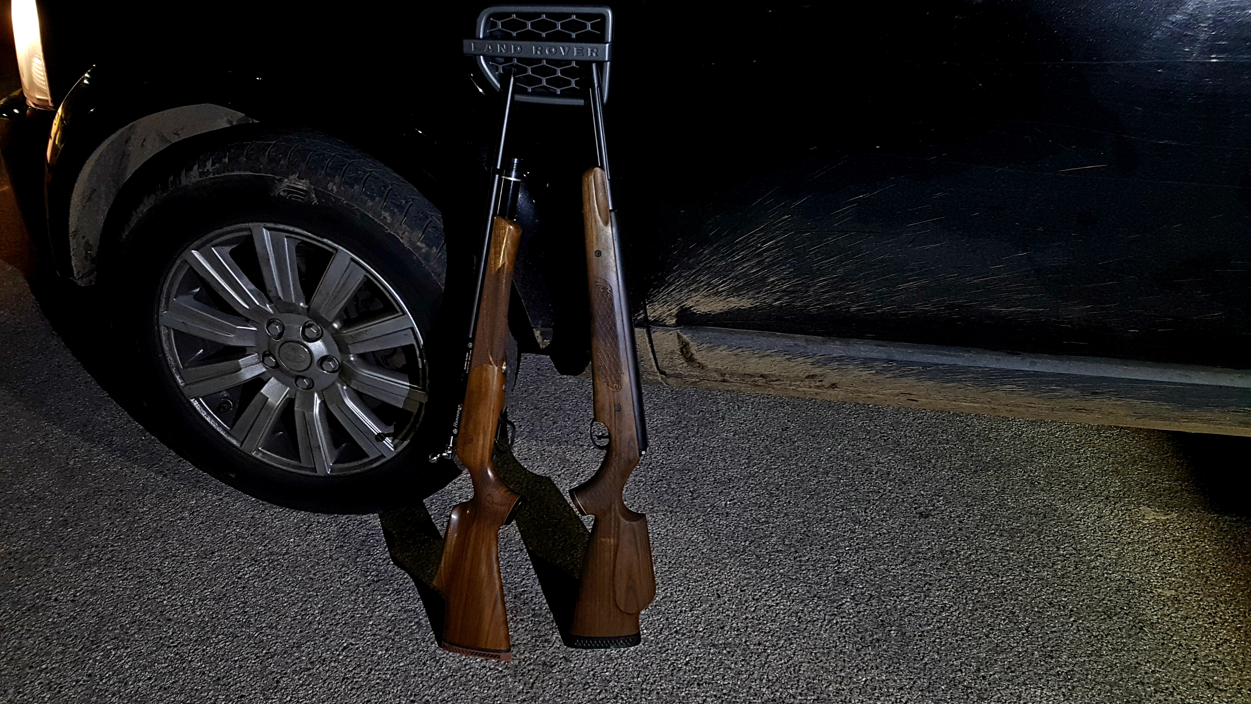 Seized rifles from Doncaster