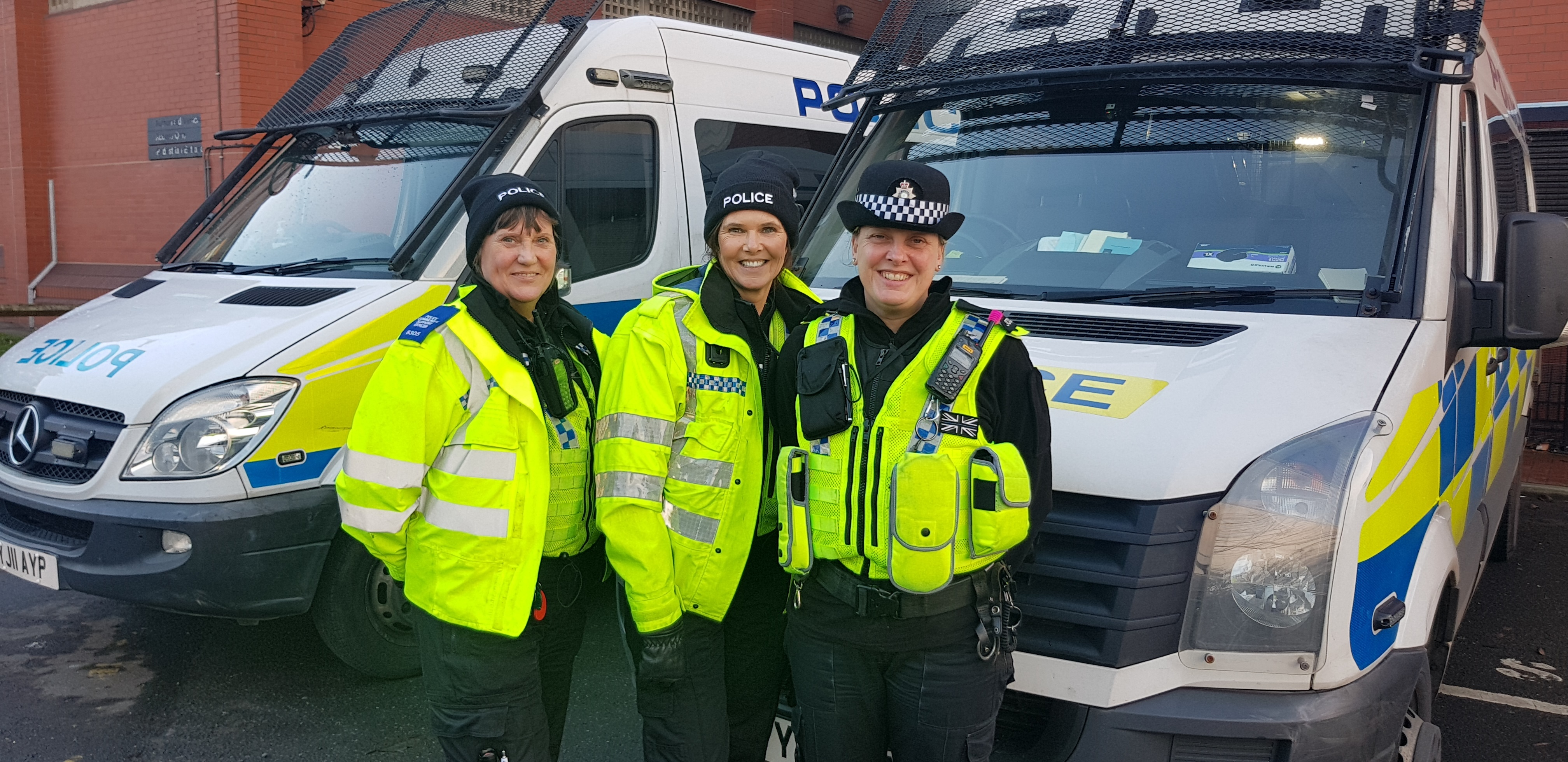 Left to right- PCSO Julie, Debbie and PC Claire Atkinson who led the day
